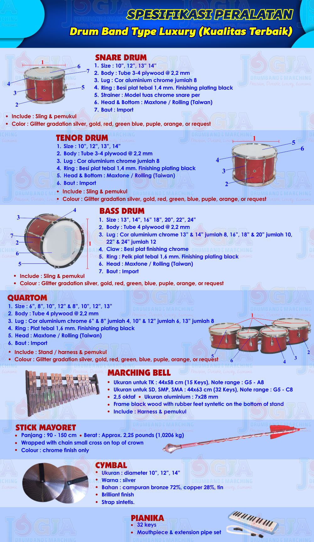 Spek Drumband Luxury