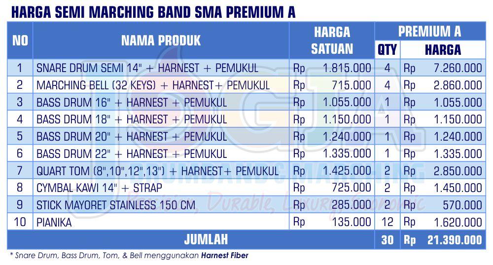 Harga Semi Marching SMA Premium A 2020